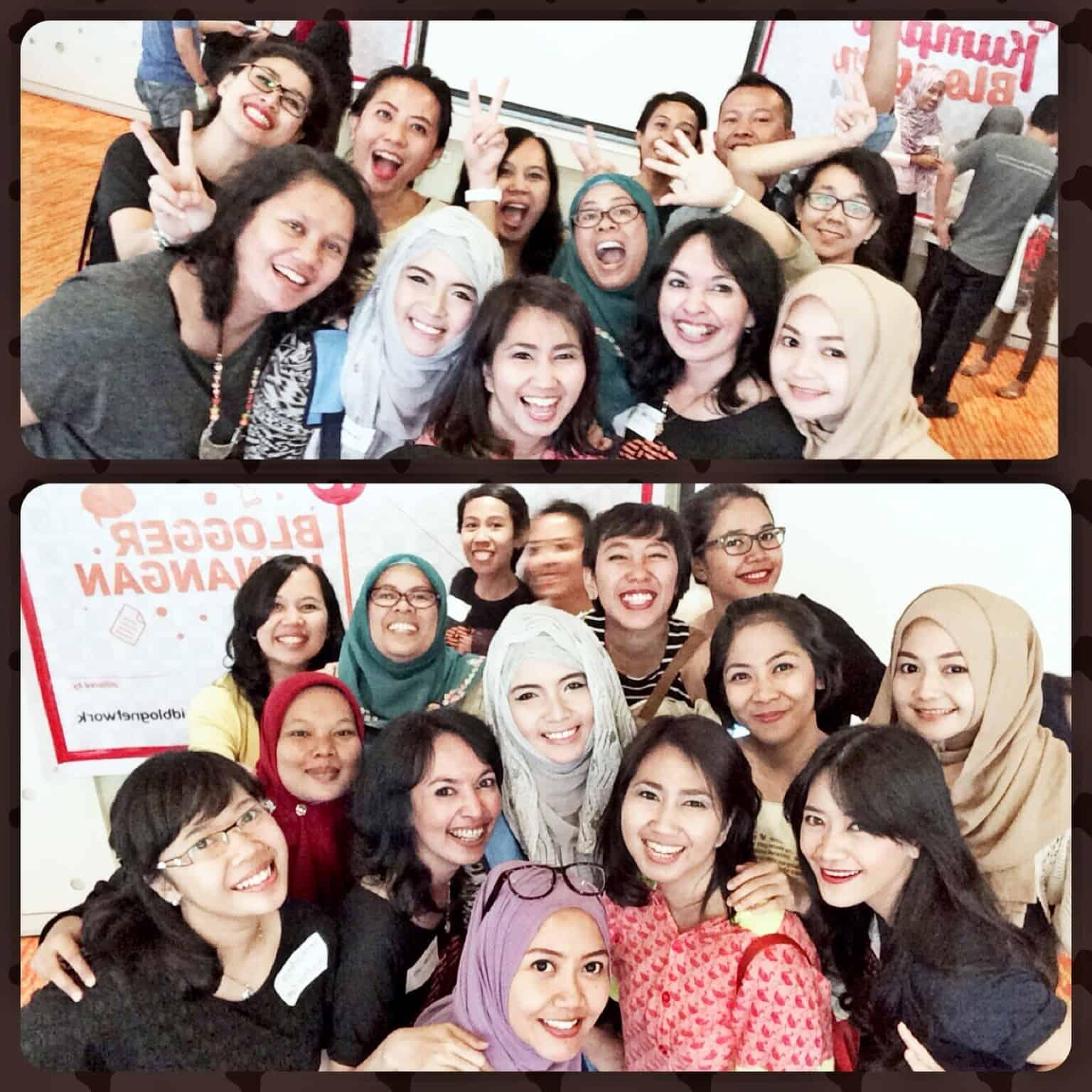 With Indah, Eny , Mira Sahid, Ollie, Ceritaeka, Thia, Irma, Wiwik, -Ainun- and Leonita-1